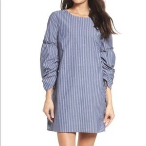 NWT Charles Henry Stripe Long Sleeves Shift Dress
